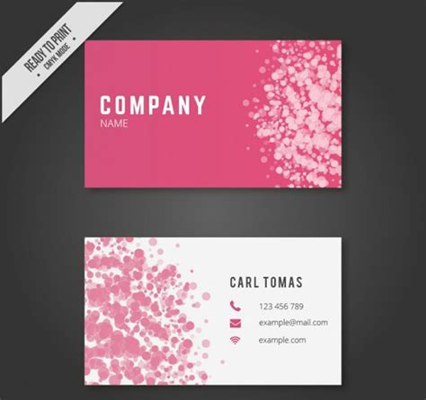 25 free pink business card templates business cards free business card templates free