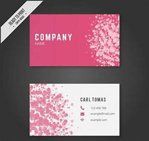 25 free pink business card templates business cards for Pink business card template