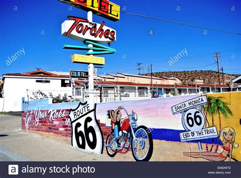 Picture Of Historic Route 66 View Of Historic Route 66 And Torches Motel Wall With