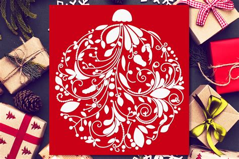 Christmas Ornament Shape Svg  – 297+ File Include SVG PNG EPS DXF
