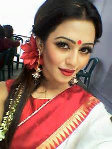 girl earring pohela boishakh of 2013 cafè press