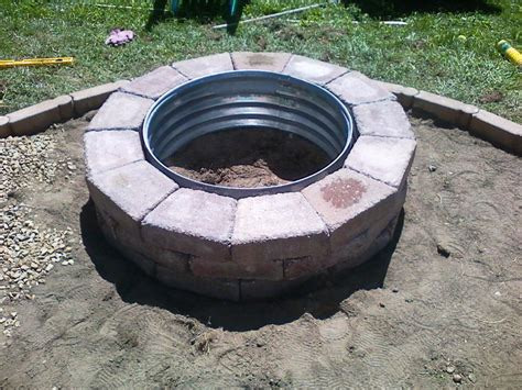 brick fire pit plans do it yourself home fireplaces firepits how to diy brick firepit