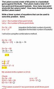 System Of Equations Word Problems Repinned By Chesapeake