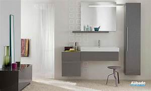 Meuble Salle De Bain Gris : meubles salle de bains gris rouge blanc allia lovely ~ Preciouscoupons.com Idées de Décoration
