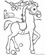 Coloring Horse Rocking Getcolorings sketch template