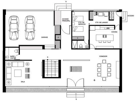 Ground Floor Plan, Gp House In Hidalgo, Mexico By Bitar