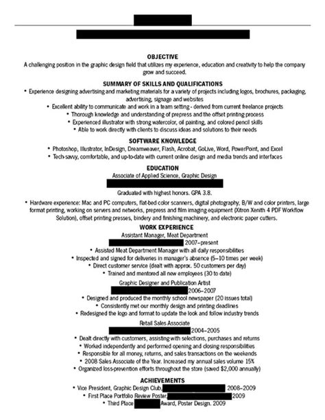 dissecting the and bad resume in a creative field