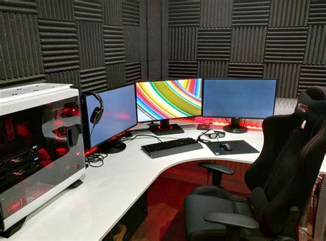 l shaped gaming desk white gaming computer desk setup battle station corner l