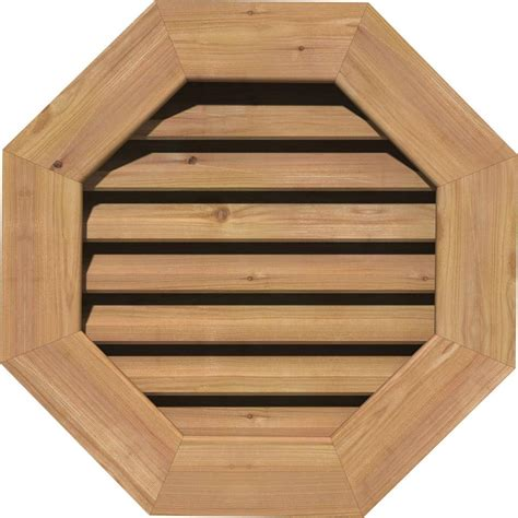 cedar gable vents ekena millwork 25 in x 25 in smooth cedar functional 2031