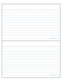 4 X 6 Index Card Template for Word