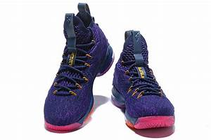 2017 Nike LeBron 15 PE Purple Multi-Colour For Sale