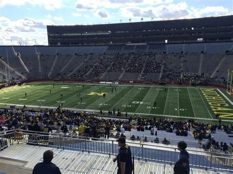 michigan stadium section  rateyourseatscom