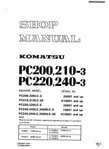 Komatsu Pc200 3 Shop Manual
