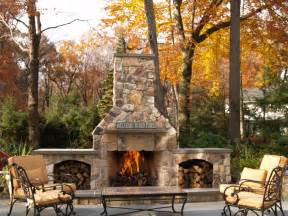 Stone Patio with Fireplace