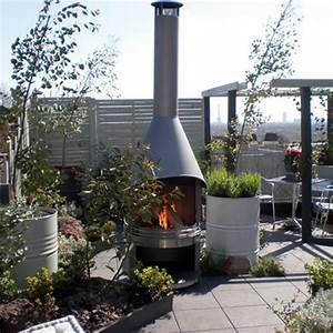 Cheminée Barbecue Exterieur : chemin e ext rieure feu chic design 80 x 265 cm ~ Preciouscoupons.com Idées de Décoration