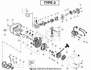 Poulan Te400cxl Gas Trimmer Type 3 Parts Diagram For