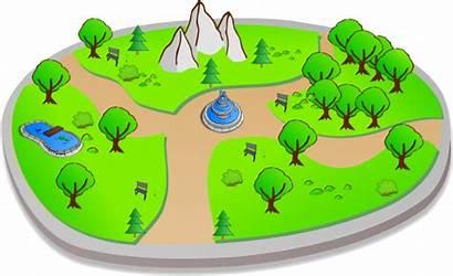 Park Clipart Clip Country Scene Cartoon Vector
