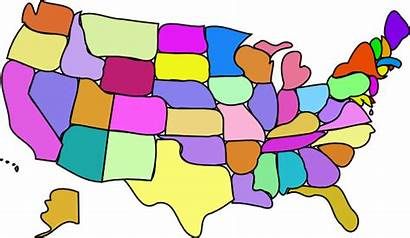 States United Map Clip Clipart Royalty Vector