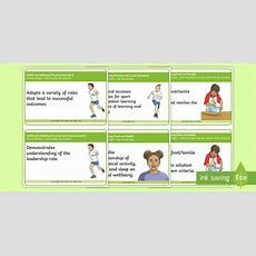 * New * Cfe Benchmarks Second Level Health And Wellbeing Display Cards