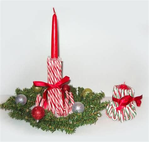 christmas craft candy cane candlestick holders 简体中文