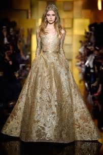 elie saab gold and silver wedding dresses collection