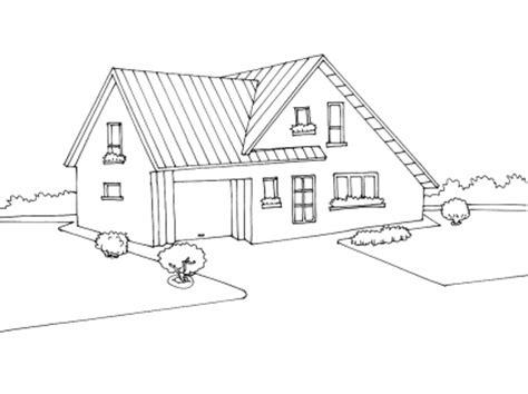 coloriage maison 7 tipos de vivienda