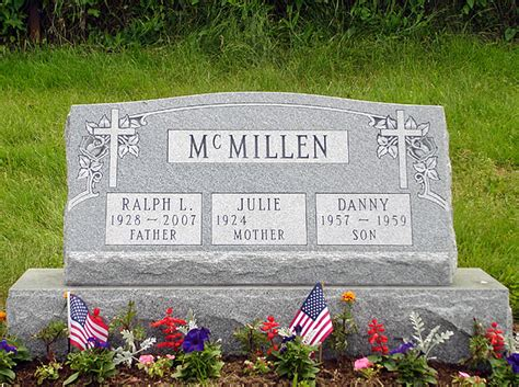 gravestones made from gray colored granite rome monument
