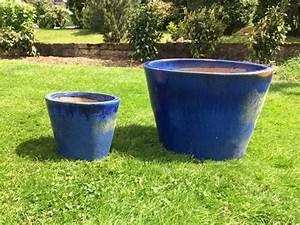 Blumentopf Hoch Aussen : blumentopf dekokugeln blau keramik winterhart in horhausen sonstiges f r den garten balkon ~ Sanjose-hotels-ca.com Haus und Dekorationen