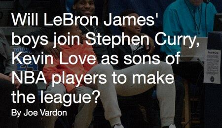 NBA father-son combos: Will LeBron James' sons join ...