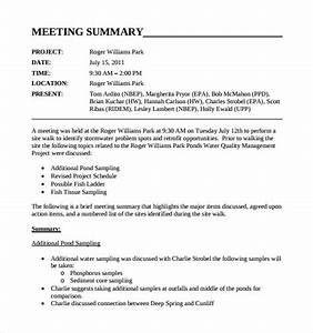 12 meeting summary templates sample templates for Meeting recap template