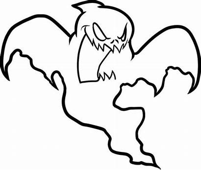 Ghost Coloring Pages Halloween Drawing Scary Ghostbusters