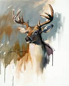 À queue cerf, Buck Giclee Fine Art Print - cerf de ...