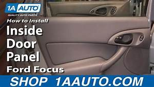 How To Install Replace Remove Rear Inside Door Panel Ford