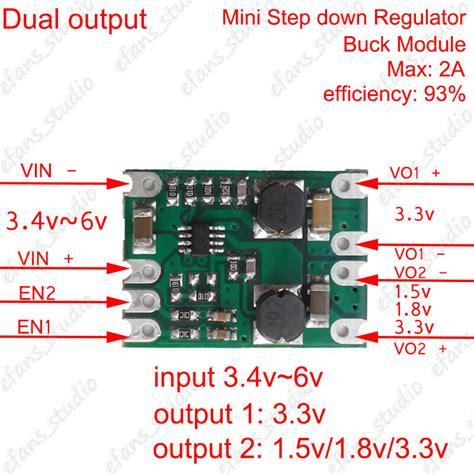 dc dc buck step converter power supply module 1 5v 1