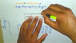 Single Phase House Wiring Diagram In Hindi  House Wiring