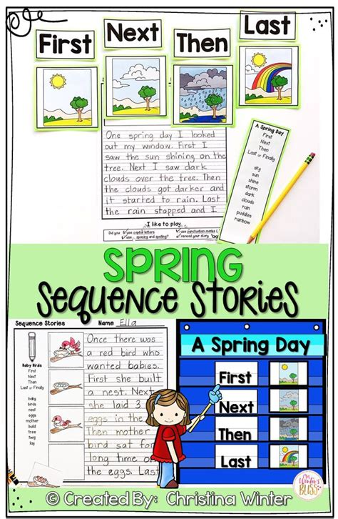 sequence writing prompts spring writing prompts