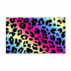 Neon Leopard Print Wall Decal by HomeDecorStore