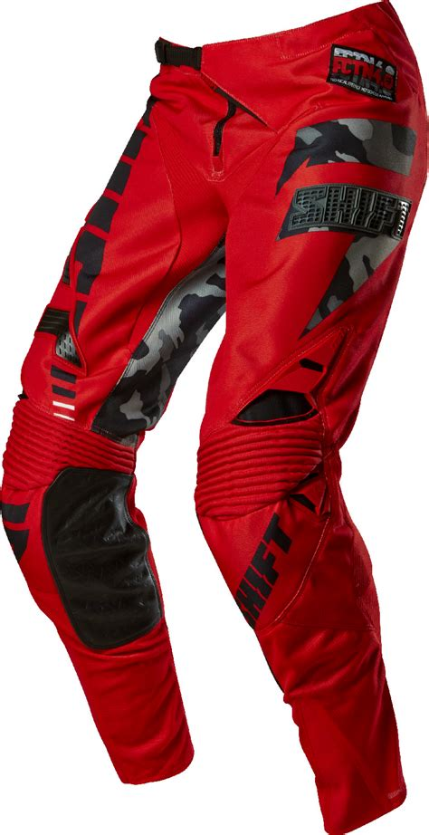 camo motocross gear shift red camo black faction dirt bike pants 2015 mx atv