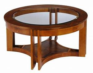 Coffee table unique round wood and glass coffee table for Glass top circle coffee table