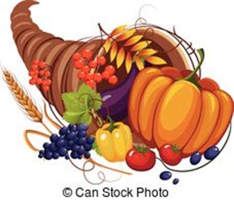 abundancia cuerno lleno vegetables cornucopia accion de gracias ilustracion fruits cosecha