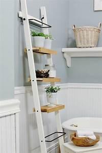 étagère échelle Ikea : tag re salle de bain un bain d 39 id e pour faire le bon ~ Premium-room.com Idées de Décoration