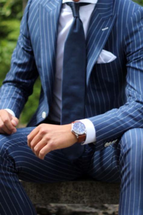 chalk stripes custom navy suit blue pinstripe suit