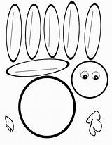 Feather Turkey Coloring Clipartmag sketch template