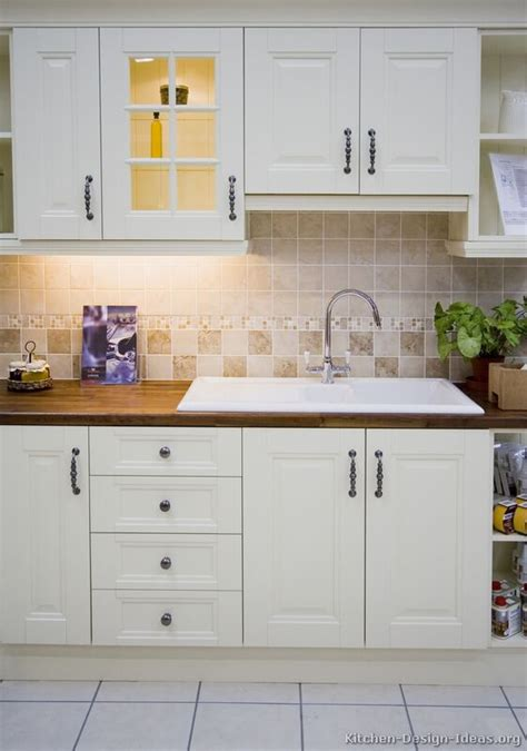 White Kitchen Sink Cabinet by Pictures Of Kitchens Traditional White Kitchen