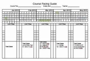 2013 semester pacing guide template file freebie by With pacing calendar template for teachers