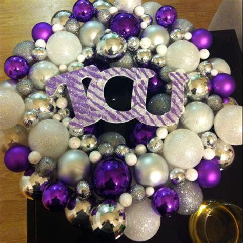 tcu christmas ornament wreath go frogs pinterest