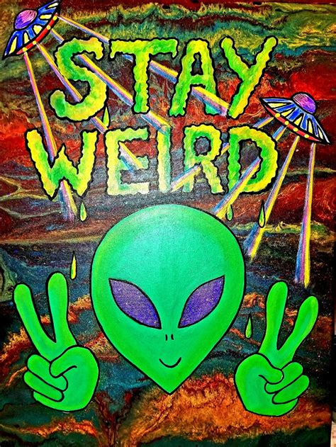 Original Alien painting 24x18in good quality canvas. FOR ...
