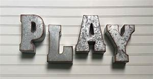 decorative metal letter play wall letter sign signage With rustic metal wall letters