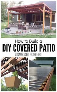 How to build a diy covered patio for How to build a covered patio