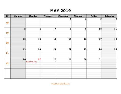 monthly blank calendar printable editable template